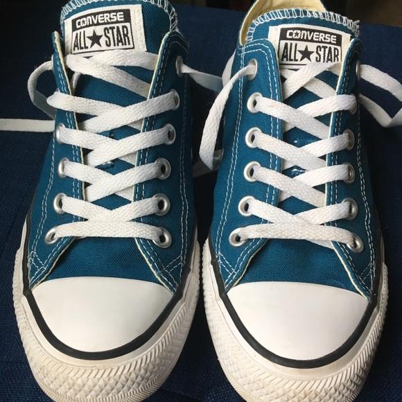 4d6deb9ab269 Converse Shoes - Low Top Dark Teal EUC